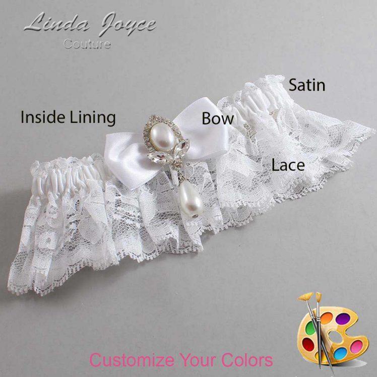 Couture Garters / Custom Wedding Garter / Customizable Wedding Garters / Personalized Wedding Garters / Joan #10-B31-M32 / Wedding Garters / Bridal Garter / Prom Garter / Linda Joyce Couture