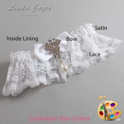 Couture Garters / Custom Wedding Garter / Customizable Wedding Garters / Personalized Wedding Garters / Mavis #10-B31-M33 / Wedding Garters / Bridal Garter / Prom Garter / Linda Joyce Couture
