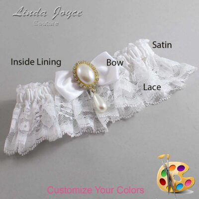 Couture Garters / Custom Wedding Garter / Customizable Wedding Garters / Personalized Wedding Garters / Meghan #10-B31-M34 / Wedding Garters / Bridal Garter / Prom Garter / Linda Joyce Couture