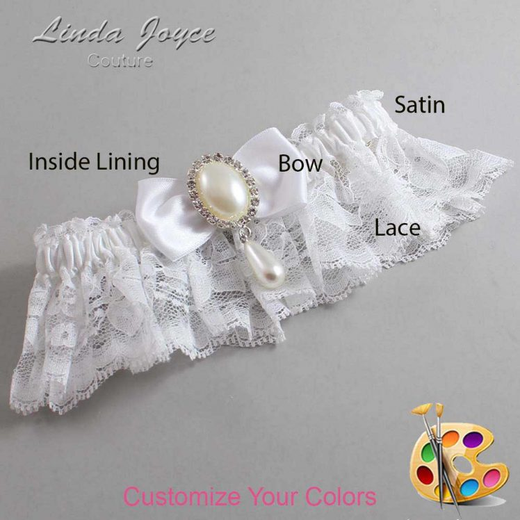 Couture Garters / Custom Wedding Garter / Customizable Wedding Garters / Personalized Wedding Garters / Meghan #10-B31-M35 / Wedding Garters / Bridal Garter / Prom Garter / Linda Joyce Couture