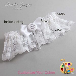 Couture Garters / Custom Wedding Garter / Customizable Wedding Garters / Personalized Wedding Garters / Custom Button #10-B31-M44 / Wedding Garters / Bridal Garter / Prom Garter / Linda Joyce Couture