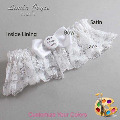 Customizable Wedding Garter / US-Military Custom Button #10-B31-M44