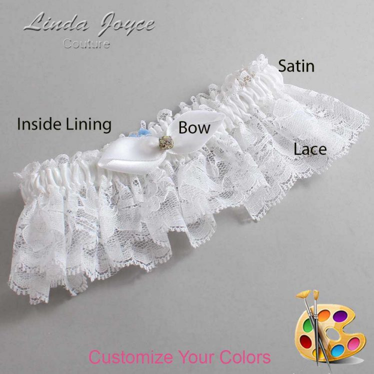 Couture Garters / Custom Wedding Garter / Customizable Wedding Garters / Personalized Wedding Garters / Trudy #10-B41-M03 / Wedding Garters / Bridal Garter / Prom Garter / Linda Joyce Couture