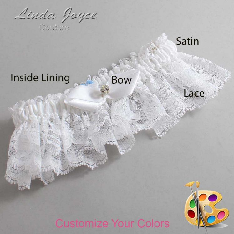 Couture Garters / Custom Wedding Garter / Customizable Wedding Garters / Personalized Wedding Garters / Trudy #10-B41-M04 / Wedding Garters / Bridal Garter / Prom Garter / Linda Joyce Couture