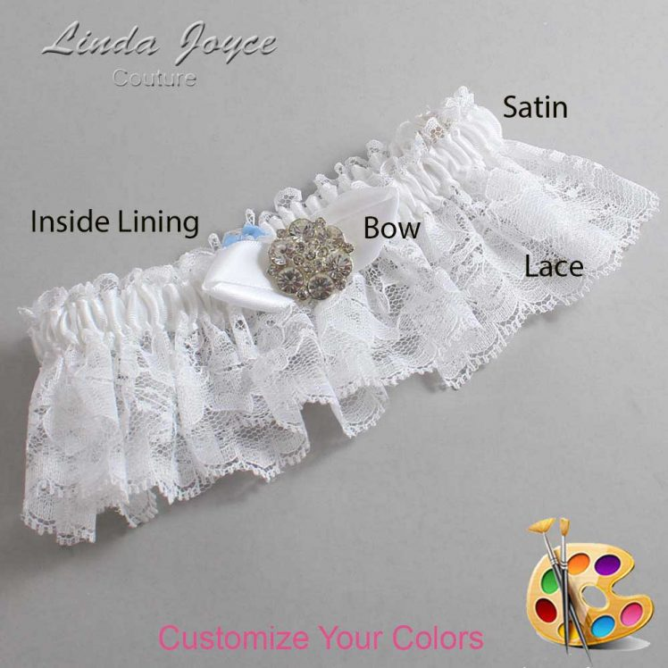Couture Garters / Custom Wedding Garter / Customizable Wedding Garters / Personalized Wedding Garters / Yvette #10-B41-M11 / Wedding Garters / Bridal Garter / Prom Garter / Linda Joyce Couture