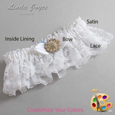 Couture Garters / Custom Wedding Garter / Customizable Wedding Garters / Personalized Wedding Garters / Zelda #10-B41-M12 / Wedding Garters / Bridal Garter / Prom Garter / Linda Joyce Couture