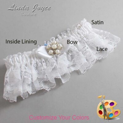 Couture Garters / Custom Wedding Garter / Customizable Wedding Garters / Personalized Wedding Garters / Wendy #10-B41-M13 / Wedding Garters / Bridal Garter / Prom Garter / Linda Joyce Couture