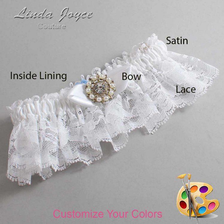 Couture Garters / Custom Wedding Garter / Customizable Wedding Garters / Personalized Wedding Garters / Drew #10-B41-M14 / Wedding Garters / Bridal Garter / Prom Garter / Linda Joyce Couture