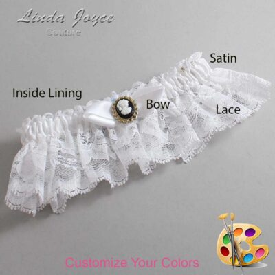 Couture Garters / Custom Wedding Garter / Customizable Wedding Garters / Personalized Wedding Garters / Bernice #10-B41-M15 / Wedding Garters / Bridal Garter / Prom Garter / Linda Joyce Couture
