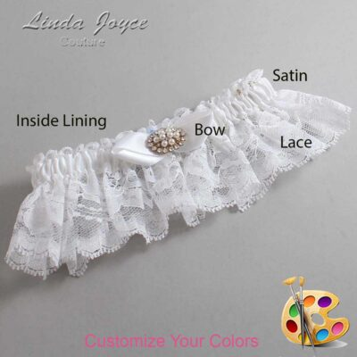 Couture Garters / Custom Wedding Garter / Customizable Wedding Garters / Personalized Wedding Garters / Tonya #10-B41-M16 / Wedding Garters / Bridal Garter / Prom Garter / Linda Joyce Couture