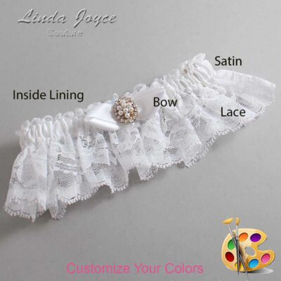 Couture Garters / Custom Wedding Garter / Customizable Wedding Garters / Personalized Wedding Garters / Suellen #10-B41-M17 / Wedding Garters / Bridal Garter / Prom Garter / Linda Joyce Couture