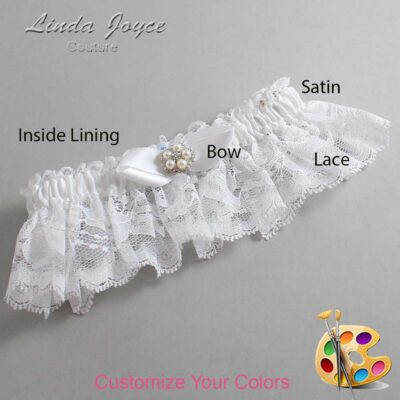 Couture Garters / Custom Wedding Garter / Customizable Wedding Garters / Personalized Wedding Garters / Clara #10-B41-M20 / Wedding Garters / Bridal Garter / Prom Garter / Linda Joyce Couture