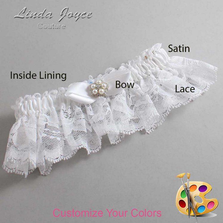 Couture Garters / Custom Wedding Garter / Customizable Wedding Garters / Personalized Wedding Garters / Clara #10-B41-M20 / Wedding Garters / Bridal Garter / Prom Garter / Linda Joyce Couture