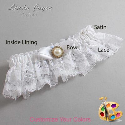 Couture Garters / Custom Wedding Garter / Customizable Wedding Garters / Personalized Wedding Garters / Vickie #10-B41-M21 / Wedding Garters / Bridal Garter / Prom Garter / Linda Joyce Couture