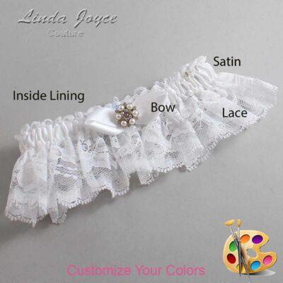 Couture Garters / Custom Wedding Garter / Customizable Wedding Garters / Personalized Wedding Garters / Virginia #10-B41-M23 / Wedding Garters / Bridal Garter / Prom Garter / Linda Joyce Couture