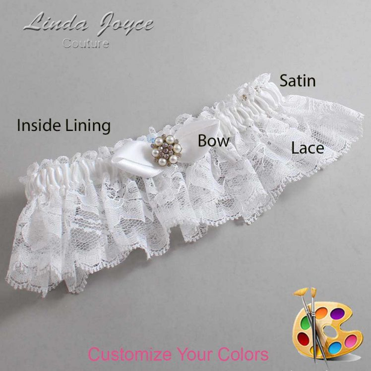 Couture Garters / Custom Wedding Garter / Customizable Wedding Garters / Personalized Wedding Garters / Virginia #10-B41-M23 / Wedding Garters / Bridal Garter / Prom Garter / Linda Joyce Couture