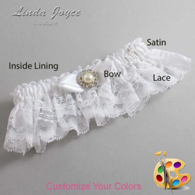 Couture Garters / Custom Wedding Garter / Customizable Wedding Garters / Personalized Wedding Garters / Tera #10-B41-M24 / Wedding Garters / Bridal Garter / Prom Garter / Linda Joyce Couture