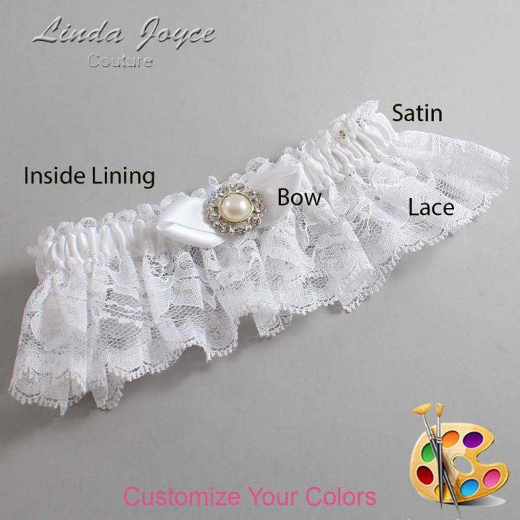 Couture Garters / Custom Wedding Garter / Customizable Wedding Garters / Personalized Wedding Garters / Tera #10-B41-M24 / Wedding Garters / Bridal Garter / Prom Garter / Linda Joyce Couture