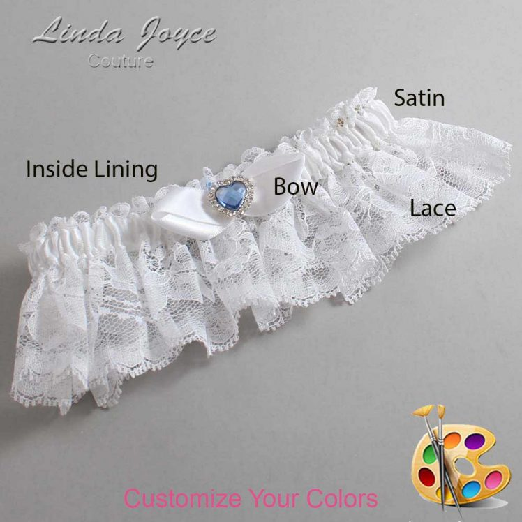 Couture Garters / Custom Wedding Garter / Customizable Wedding Garters / Personalized Wedding Garters / Tess #10-B41-M25 / Wedding Garters / Bridal Garter / Prom Garter / Linda Joyce Couture