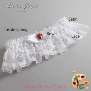 Couture Garters / Custom Wedding Garter / Customizable Wedding Garters / Personalized Wedding Garters / Cindy #10-B41-M26 / Wedding Garters / Bridal Garter / Prom Garter / Linda Joyce Couture