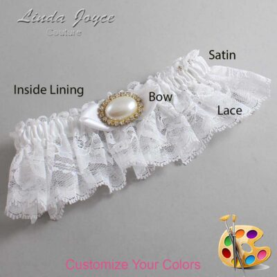 Couture Garters / Custom Wedding Garter / Customizable Wedding Garters / Personalized Wedding Garters / Teresa #10-B41-M28 / Wedding Garters / Bridal Garter / Prom Garter / Linda Joyce Couture