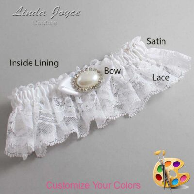 Couture Garters / Custom Wedding Garter / Customizable Wedding Garters / Personalized Wedding Garters / Teresa #10-B41-M30 / Wedding Garters / Bridal Garter / Prom Garter / Linda Joyce Couture
