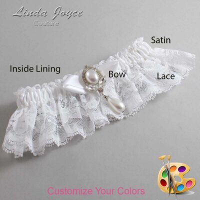 Couture Garters / Custom Wedding Garter / Customizable Wedding Garters / Personalized Wedding Garters / Clarissa #10-B41-M32 / Wedding Garters / Bridal Garter / Prom Garter / Linda Joyce Couture