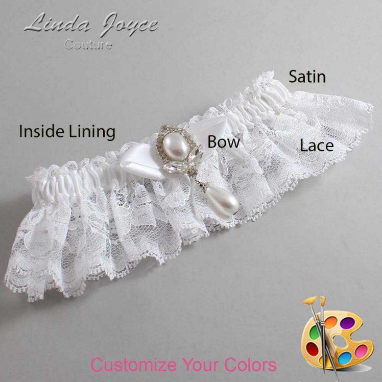 Couture Garters / Custom Wedding Garter / Customizable Wedding Garters / Personalized Wedding Garters / Clarissa #10-B41-M32 / Wedding Garters / Bridal Garter / Prom Garter / Linda Joyce Couture