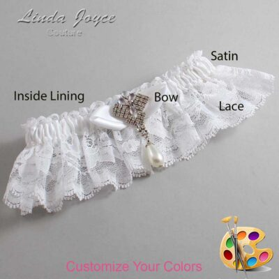Couture Garters / Custom Wedding Garter / Customizable Wedding Garters / Personalized Wedding Garters / Claudette #10-B41-M33 / Wedding Garters / Bridal Garter / Prom Garter / Linda Joyce Couture