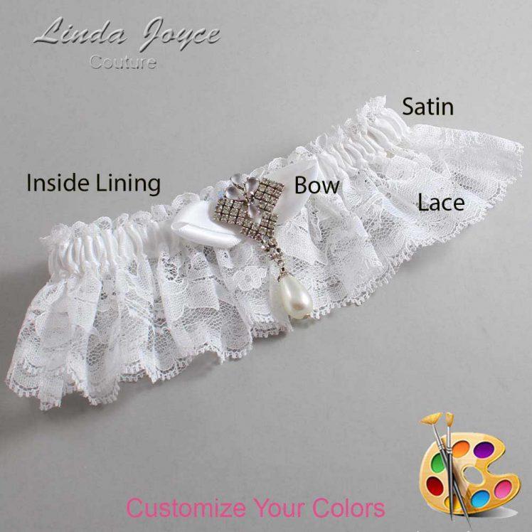 Couture Garters / Custom Wedding Garter / Customizable Wedding Garters / Personalized Wedding Garters / Claudette #10-B41-M33 / Wedding Garters / Bridal Garter / Prom Garter / Linda Joyce Couture