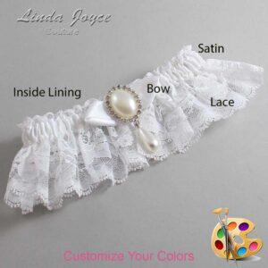 Couture Garters / Custom Wedding Garter / Customizable Wedding Garters / Personalized Wedding Garters / Sybil #10-B41-M35 / Wedding Garters / Bridal Garter / Prom Garter / Linda Joyce Couture