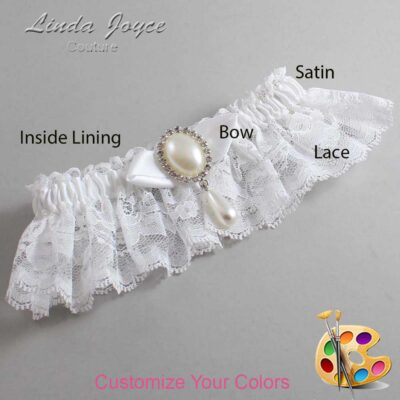 Couture Garters / Custom Wedding Garter / Customizable Wedding Garters / Personalized Wedding Garters / Sybil #10-B41-M35 / Wedding Garters / Bridal Garter / Prom Garter / Linda Joyce Couture