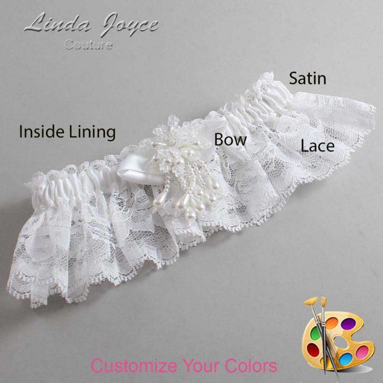 Couture Garters / Custom Wedding Garter / Customizable Wedding Garters / Personalized Wedding Garters / Tammy #10-B41-M38 / Wedding Garters / Bridal Garter / Prom Garter / Linda Joyce Couture