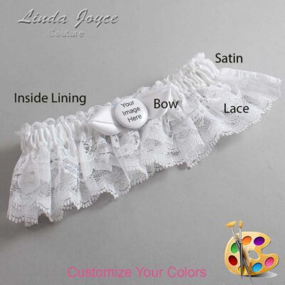 Couture Garters / Custom Wedding Garter / Customizable Wedding Garters / Personalized Wedding Garters / Custom Button #10-B41-M44 / Wedding Garters / Bridal Garter / Prom Garter / Linda Joyce Couture