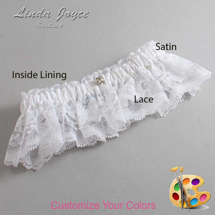 Couture Garters / Custom Wedding Garter / Customizable Wedding Garters / Personalized Wedding Garters / Solitaire #10-M03 / Wedding Garters / Bridal Garter / Prom Garter / Linda Joyce Couture