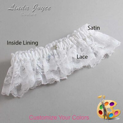 Couture Garters / Custom Wedding Garter / Customizable Wedding Garters / Personalized Wedding Garters / Solitaire #10-M04 / Wedding Garters / Bridal Garter / Prom Garter / Linda Joyce Couture