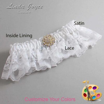 Couture Garters / Custom Wedding Garter / Customizable Wedding Garters / Personalized Wedding Garters / Lynnette #10-M12 / Wedding Garters / Bridal Garter / Prom Garter / Linda Joyce Couture
