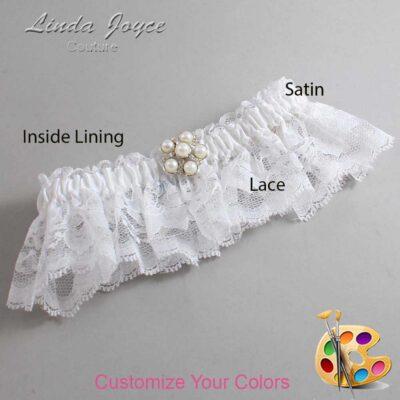 Couture Garters / Custom Wedding Garter / Customizable Wedding Garters / Personalized Wedding Garters / Liza #10-M13 / Wedding Garters / Bridal Garter / Prom Garter / Linda Joyce Couture