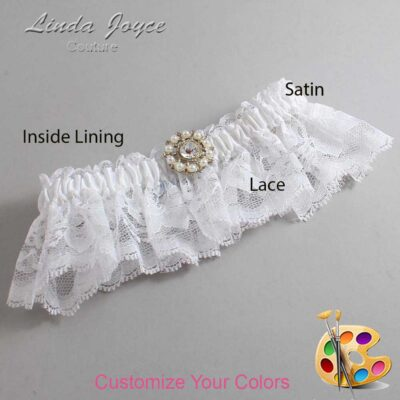 Couture Garters / Custom Wedding Garter / Customizable Wedding Garters / Personalized Wedding Garters / Phyllis #10-M14 / Wedding Garters / Bridal Garter / Prom Garter / Linda Joyce Couture