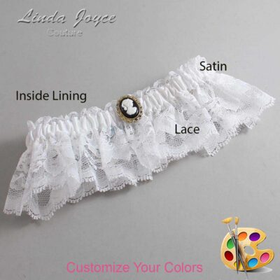 Couture Garters / Custom Wedding Garter / Customizable Wedding Garters / Personalized Wedding Garters / Cally #10-M15 / Wedding Garters / Bridal Garter / Prom Garter / Linda Joyce Couture