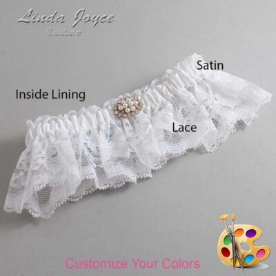 Couture Garters / Custom Wedding Garter / Customizable Wedding Garters / Personalized Wedding Garters / Fay #10-M16 / Wedding Garters / Bridal Garter / Prom Garter / Linda Joyce Couture