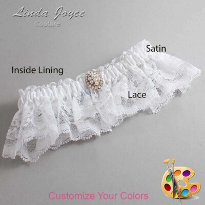 Couture Garters / Custom Wedding Garter / Customizable Wedding Garters / Personalized Wedding Garters / Leigh #10-M17 / Wedding Garters / Bridal Garter / Prom Garter / Linda Joyce Couture