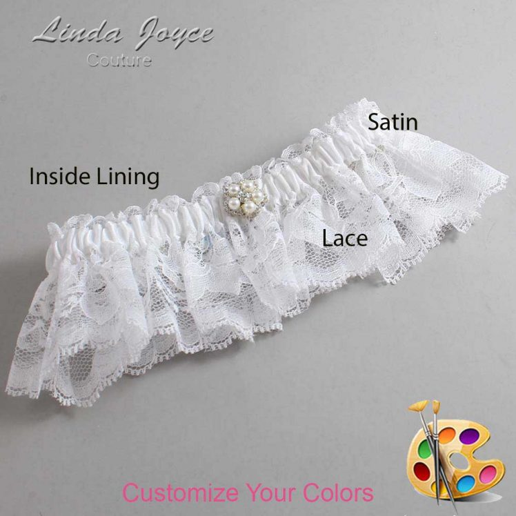 Couture Garters / Custom Wedding Garter / Customizable Wedding Garters / Personalized Wedding Garters / Ercia #10-M20 / Wedding Garters / Bridal Garter / Prom Garter / Linda Joyce Couture