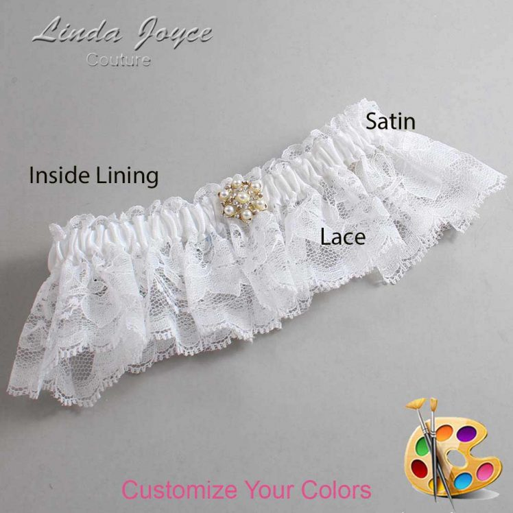 Couture Garters / Custom Wedding Garter / Customizable Wedding Garters / Personalized Wedding Garters / Elaine #10-M27 / Wedding Garters / Bridal Garter / Prom Garter / Linda Joyce Couture