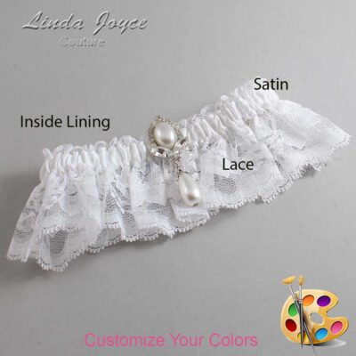 Couture Garters / Custom Wedding Garter / Customizable Wedding Garters / Personalized Wedding Garters / Grace #10-M32 / Wedding Garters / Bridal Garter / Prom Garter / Linda Joyce Couture