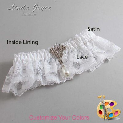 Couture Garters / Custom Wedding Garter / Customizable Wedding Garters / Personalized Wedding Garters / Lauren #10-M33 / Wedding Garters / Bridal Garter / Prom Garter / Linda Joyce Couture