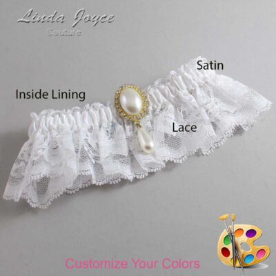 Couture Garters / Custom Wedding Garter / Customizable Wedding Garters / Personalized Wedding Garters / Cora #10-M34 / Wedding Garters / Bridal Garter / Prom Garter / Linda Joyce Couture