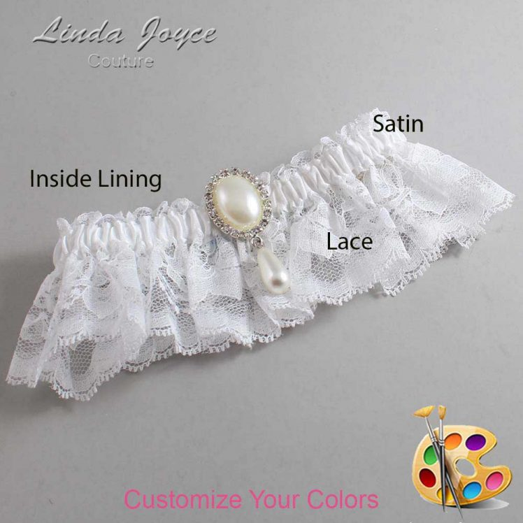 Couture Garters / Custom Wedding Garter / Customizable Wedding Garters / Personalized Wedding Garters / Cora #10-M35 / Wedding Garters / Bridal Garter / Prom Garter / Linda Joyce Couture