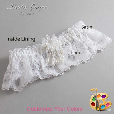 Couture Garters / Custom Wedding Garter / Customizable Wedding Garters / Personalized Wedding Garters / Folly #10-M38 / Wedding Garters / Bridal Garter / Prom Garter / Linda Joyce Couture