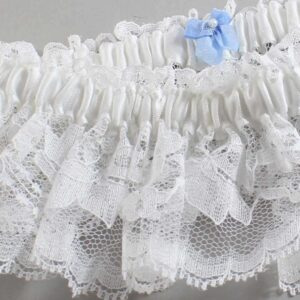Couture Garters / Custom Wedding Garter / Customizable Wedding Garters / Personalized Wedding Garters / Custom Button #10-M44 / Wedding Garters / Bridal Garter / Prom Garter / Linda Joyce Couture